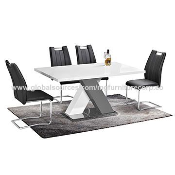 Mdf High Gloss Lacquered Dining Table China