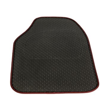 China Set of 4 Car Mats - Black with Red Trim