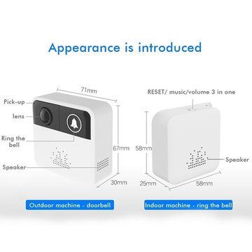 SNO 720p battery-powered wifi doorbell, ip door bell camera