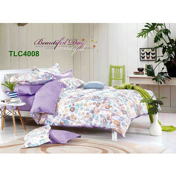 e92e6e56047 100% cotton pigment printed bed cover sets with bed sheet