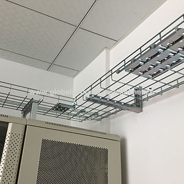 Linknet wire mesh cable tray at top of server rack cabinet | Global ...