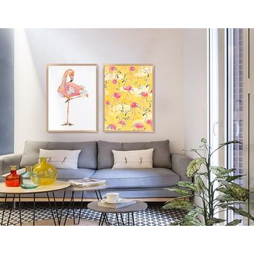Large Framed Wall Art china gris* flamingo large framed wall art hand crayon from