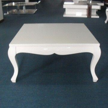 White Square Coffee Table Center Table Simple Living Room Furniture Tea Table High Gloss Wood