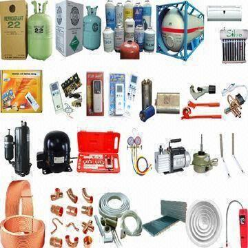 Air Conditioner Spare Parts Including Refrigerant Gas And