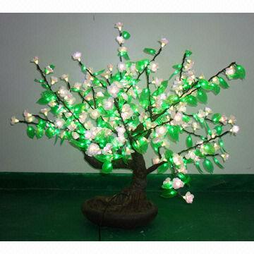Fake Bonsai Tree Light With Artificial Blossom Attractive For Home Garden Decor Global Sources
