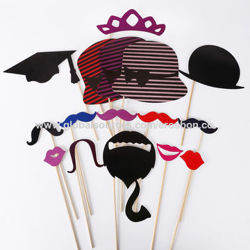 China Paper Photo Booth Props On Stick From Shanghai Trading Company