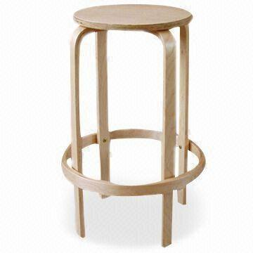 China Knock Down And Stackable Birch Bentwood Stool, Comfortable And  Fashionable