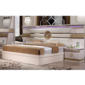 Bed Luxury Saudi Style Wooden Bedroom Sets Mdf With Baking Finish Rh Globalsources Com China Furniture Chinese Uk