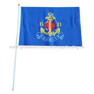 Polyester stick 14x21cm hand flag-waver flag,custom design