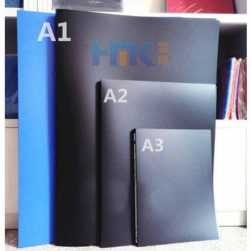 A1 PP Clear Book,Spine Paper,8 Pockets,Poster Folder,Short