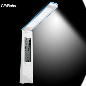 DC 12V foldable/rotatable LED table lamp with LED nixie tube