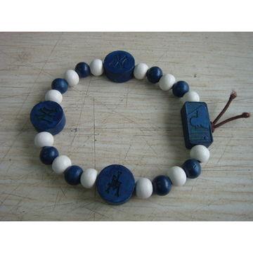 China Unisex wood charm bracelet