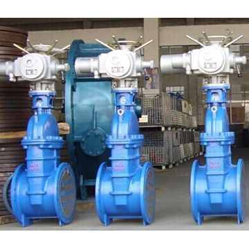 Gate valve with electric actuator | Global Sources