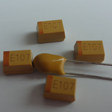 China Chip Tantalum Capacitor, Reel/Tape Packaging, RoHS-compliant Directive, 1-year Quality Guarantee