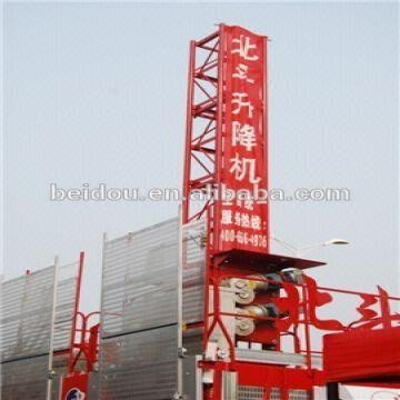 Safety construction elevator for goods and passengers