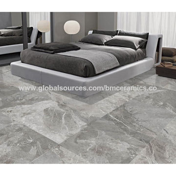China Bathroom Smooth Washable Dark Grey Marble Tiles