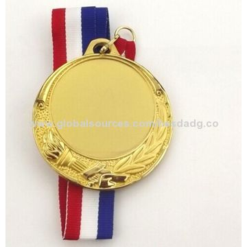 China Customized Sport Medal, Made of Zinc Alloy/Iron/Brass