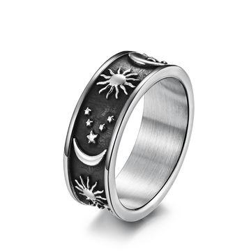China New Fashion Gold Moon Sun Stainless Steel Enamel Men Ring on Global  Sources,Enamel Ring,Men Ring,Fashion Ring