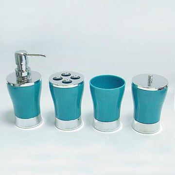 Acrylic Vase Shape Blue Bathroom, Green And Blue Bathroom Accessories
