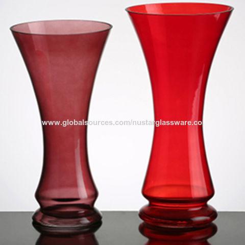 China Red Glass Vases From Qingdao Wholesaler Qingdao Nustar