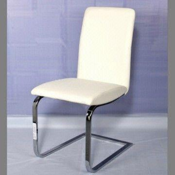 white pu leather dining chair white pu leather chair with chromed