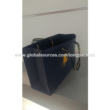 835ac5a5ba ... China High quality luxury brand paper gift bag POLO paper shopping bag  ...