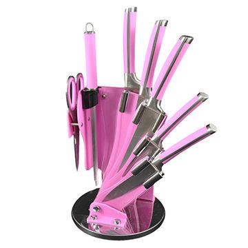 China Pink Kitchen Knife Set