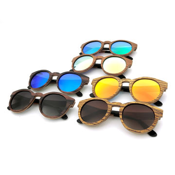 China Wooden Chinese sunglasses, high-end laminated wooden sunglasses with spring hinge