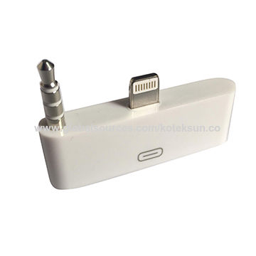 fd6c7884715 China 30-pin al adaptador audio del relámpago de 8 pernos para el iPhone 5  ...