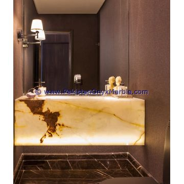 Backlit Onyx Pedestals Sinks Global