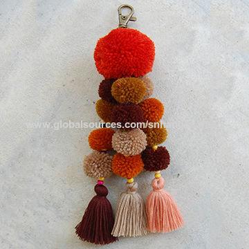 India Pom pom bag charm tassel from Delhi Wholesaler  S. N. Handicrafts f4312b4ab2e8