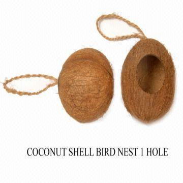 We are manufacturers of coconut shell bird feeders  These are