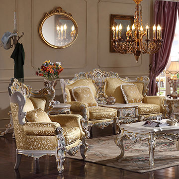 China Reproduction French Provincial Furniture Living Room Furniture Sofa  Set Antique Reproduction Sofa ...