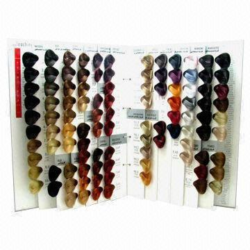 Synthetic Fiber Hair Color Chartsheet 104 Colors Looped Swatch