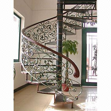 China Top Selling Classical Wrought Iron Indoor Stair Handrails