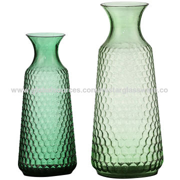 China Hand Blown Green Glass Vases Flower Vase For Home Decoration