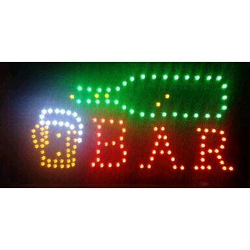 Semi-outdoor free Shipping 9X13 Inch Open Bar Business Shop Led