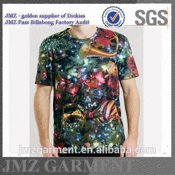 92e16e83 China custom digital print tshirts t-shirt manufacturer High quality fabric  Print pattern Regular fit