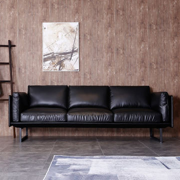 Sensational Global Sources China Modern Black Genuine Leather Sofa Ibusinesslaw Wood Chair Design Ideas Ibusinesslaworg