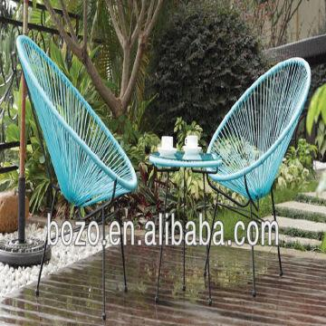 china outdoor iron rattan acapulco chair and tablegarden egg chair table set competitive price
