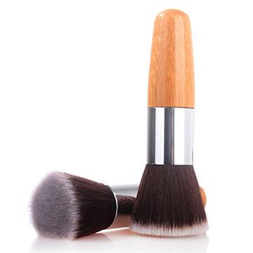 72bf3ff8e60b China Durable Bamboo Handle flat top Brushes Synthetic Kabuki ...
