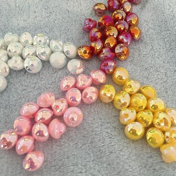 China Hot Sale Round Pearl ABS Rhinestone Button for Garment