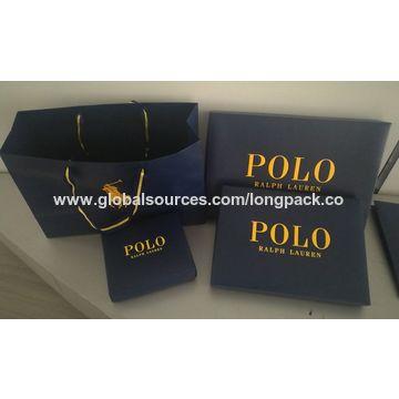 88b69dd7fc ... China High quality luxury brand paper gift bag POLO paper shopping bag
