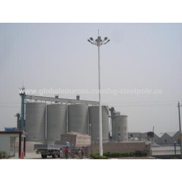 China Anti-rust 20M Overlap Connection Flood Lighting Steel Pole