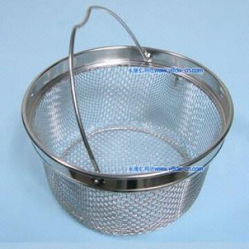 Stainless Steel Fry Fryer Frying Wire Mesh Basket Colander Strainer ...