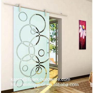 ... China Aluminum Interior Glass Sliding Barn Door Hardware