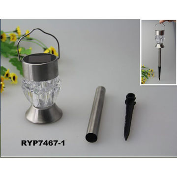 ... China Solar Lights Outdoor Dual LED Garden Light, Landscape/Pathway Lights  Stainless Steel Color ...