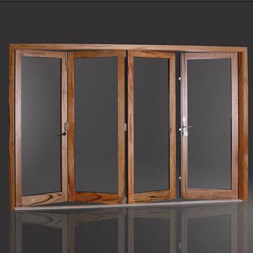 ... China 110 Series Aluminum Clad Wood Bi-fold Door & 110 Series Aluminum Clad Wood Bi-fold Door with 95% Opening Space ...