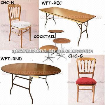 folding cocktail table / plastic t-molding / 3ft folding table