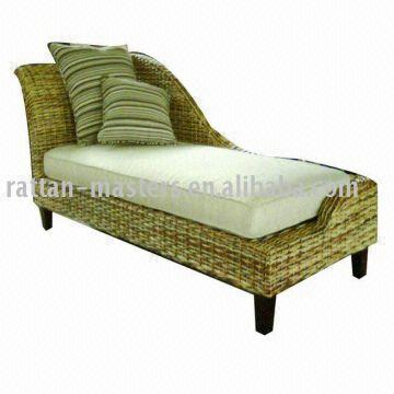 China Modern Fashion Ra606 Natural Rattan Chaise Lounge Sofa Bed